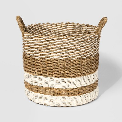 15  x 13  Woven Seagrass Basket Natural/Cream - Threshold™