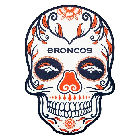 Nfl Denver Broncos Large Outdoor Skull Decal Target