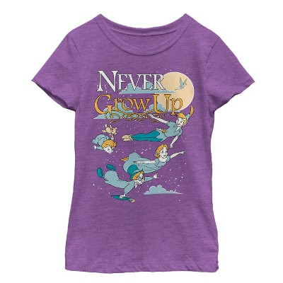 Girl's Peter Pan Never Grow Up T-Shirt
