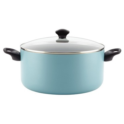 Farberware Aluminum Nonstick Covered Stock Pot - 10.5 Quart - Aqua