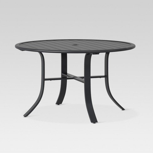 Camden 48 Round Patio Dining Table Black Threshold Target