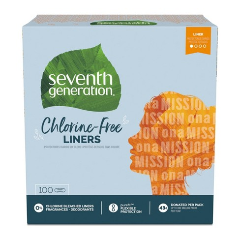 Seventh Generation Free & Clear Chlorine Free Light Pantiliners - 100ct - image 1 of 4
