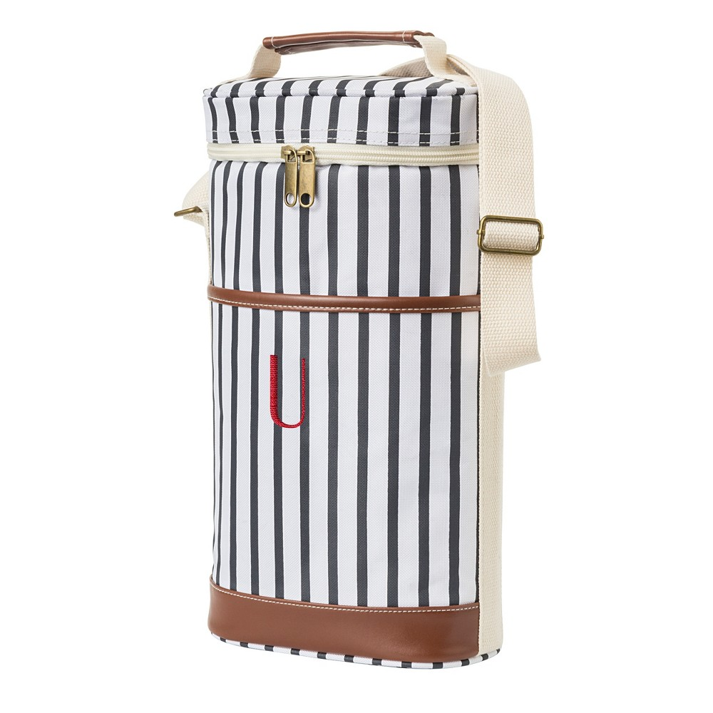 Cathy's Concepts Striped Wine Cooler - U, Blue Brown White