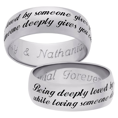 "Sterling Silver ""Being Deeply Loved"" Sentiment Band - image 1 of 1"