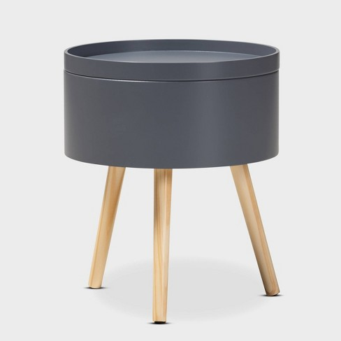Jessen Wood Nightstand with Removable Top - Baxton Studio - image 1 of 6