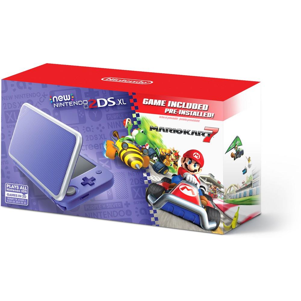 Nintendo 2DS XL with Mario Kart 7 - Purple/Silver Nintendo 2DS XL with Mario Kart 7 - Purple/Silver Color: Black. Gender: unisex.