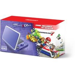 Nintendo 2DS XL with Mario Kart 7 - Purple/Silver