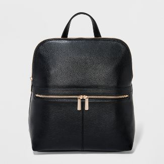 Zip Top Backpack - A New Day™ Black