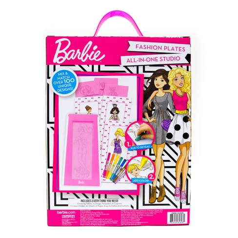 Barbie Fashion Plates All In One Studio Activity Kit Target