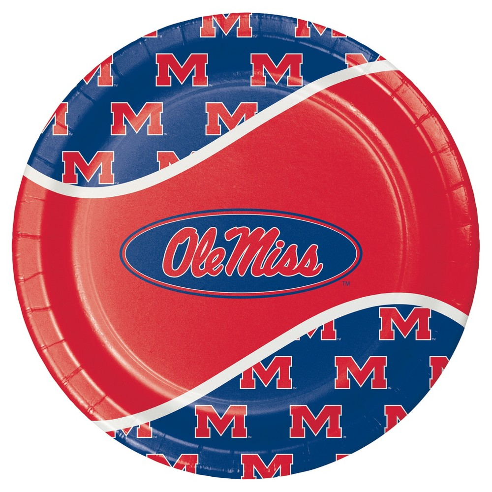 University Of Mississippi 9 Paper Plates 8ct