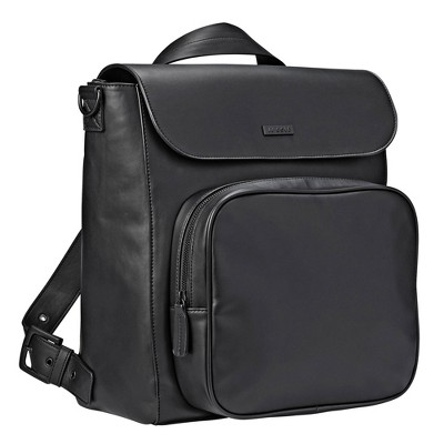 JJ Cole Vegan Leather Brookmont Backpack Diaper Bag - Blackout