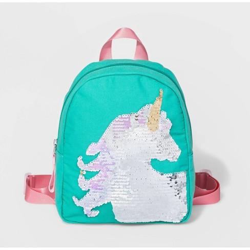 Girls' Unicorn Backpack - Cat & Jack™ Green - image 1 of 2