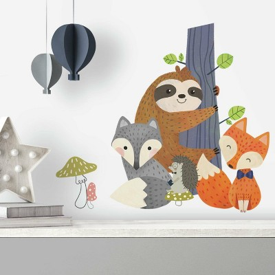 RoomMates Forest Friends Peel and Stick Giant Wall Decal