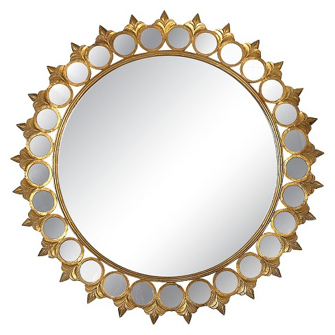 Sunburst Framed Decorative Wall Mirror Gold - 3R Studios - image 1 of 2