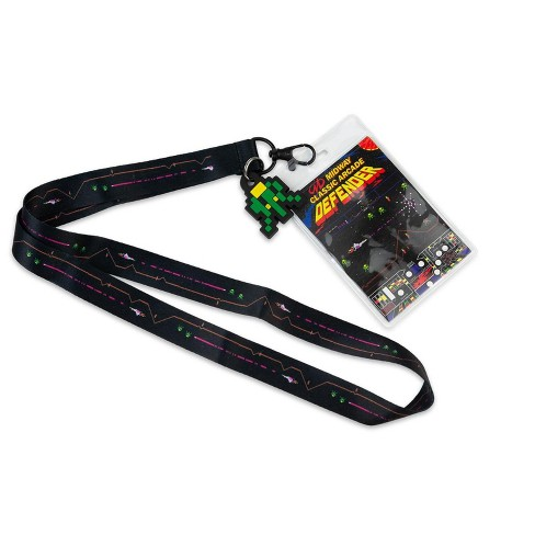 Crowded Coop, LLC Midway Arcade Games Lanyard w/ ID Holder & Charm - Defender - image 1 of 4