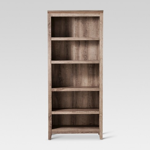 72 Carson 5 Shelf Bookcase Rustic Threshold Target