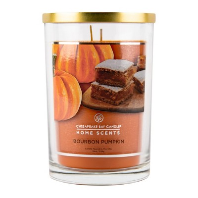 19oz Glass Jar 2-Wick Candle Bourbon Pumpkin - Home Scents By Chesapeake Bay Candle