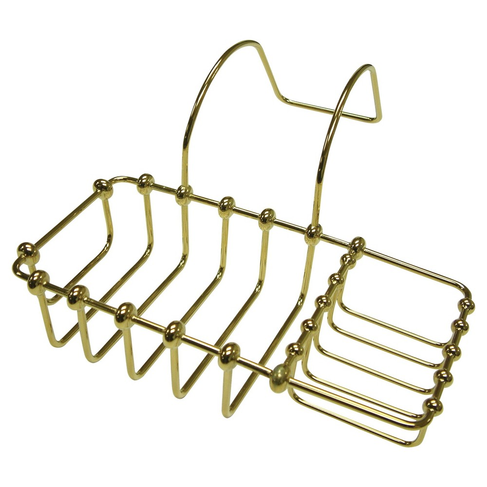 """Image of """"8""""""""s Clawfoot Bath Soap and Sponge Holder Polished Brass - Kingston Brass"""""""