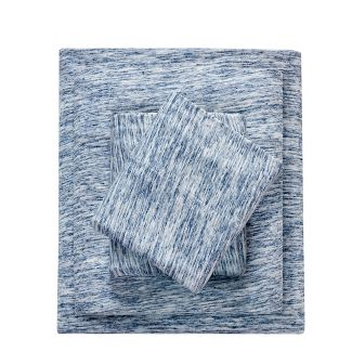 Cotton Jersey Knit Sheet Set (King) Blue