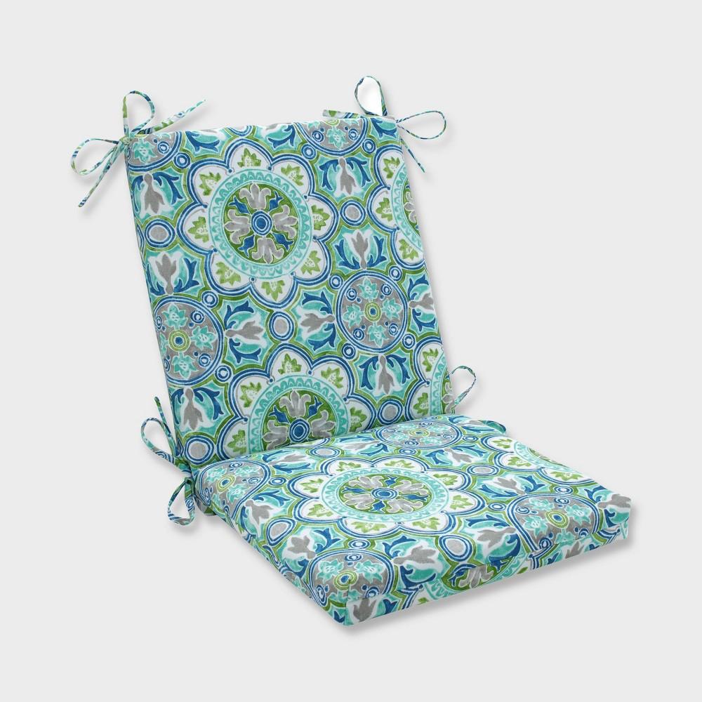 Outstanding Lagoa Tile Squared Corners Outdoor Chair Cushion Blue Pillow Uwap Interior Chair Design Uwaporg