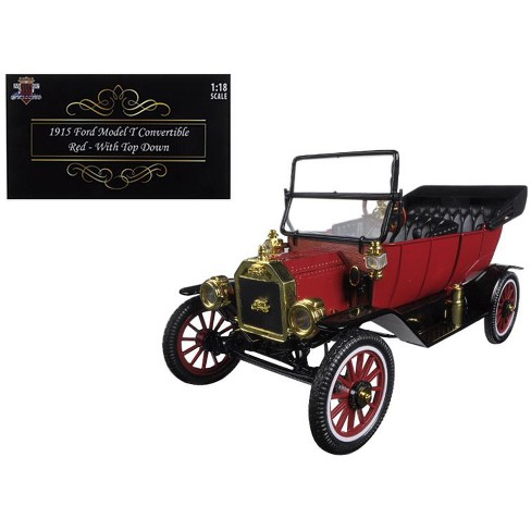 1915 Ford Model T Roadster Converible Red 1/18 Diecast Model Car by Motorcity Classics - image 1 of 1