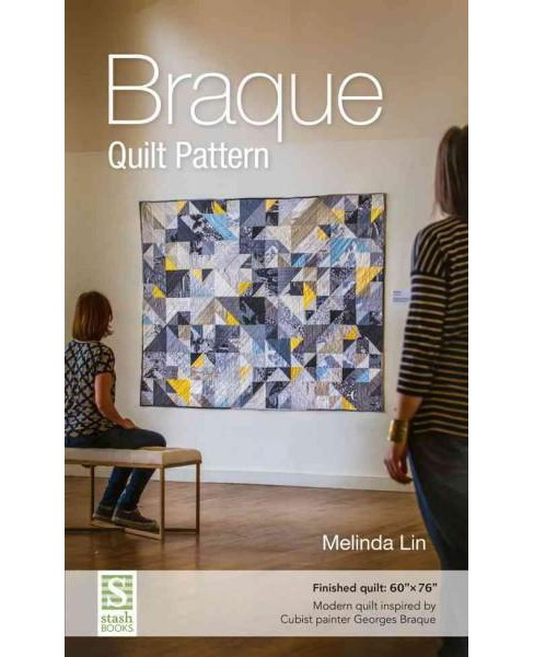 "Braque Quilt Pattern : Finished Quilt: 60"" X 76"" - modern Quilt Inspired by Cubist Painter Georges - image 1 of 1"
