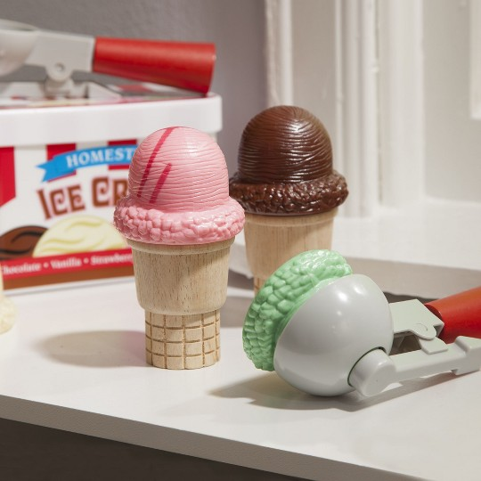 Melissa & Doug Scoop and Stack Ice Cream Cone Magnetic Pretend Play Set image number null