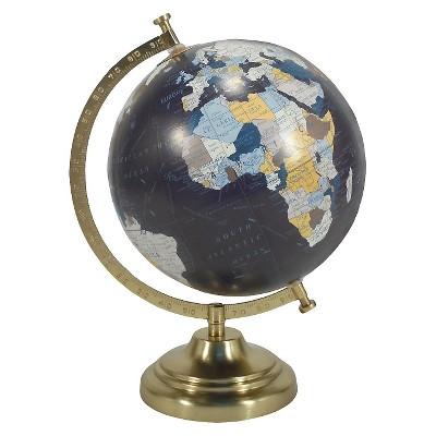 Desktop Globe w/ Gold Base - Threshold™