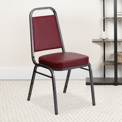 """Flash Furniture HERCULES Series Trapezoidal Back Stacking Banquet Chair with 2.5"""" Thick Seat"""