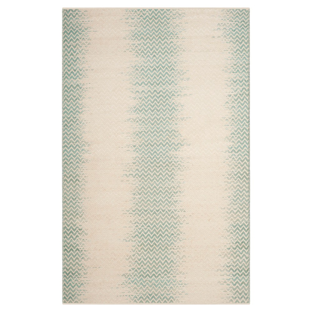 Light Green/Ivory Abstract Loomed Area Rug - (4'X6') - Safavieh