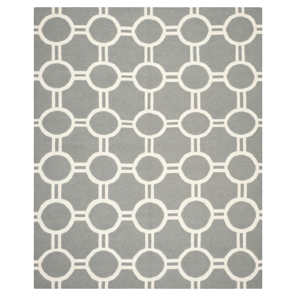 Promos Dhurries Rug - Gray Ivory - (6x9) - Safavieh