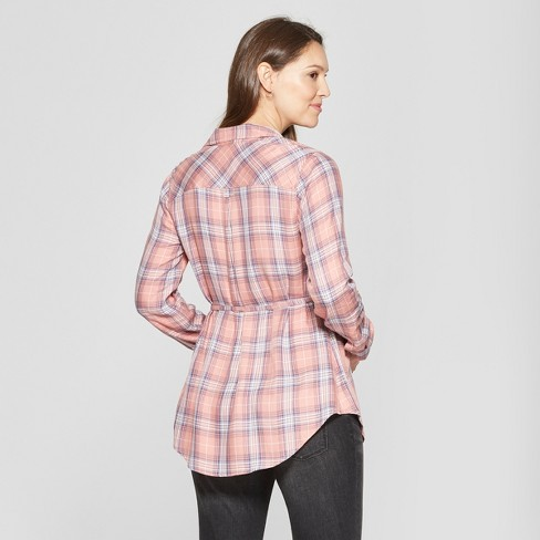 d42c5eee75118 Maternity Plaid Long Sleeve Popover Tunic - Isabel...   Target