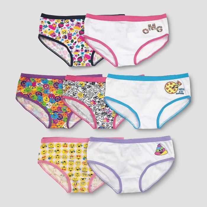 Girls' EmojiNation 7pk Bikini Briefs - image 1 of 1