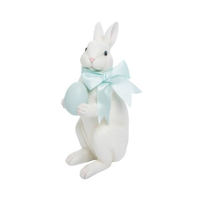 Gallerie II Rabbit With  Blue Egg Easter Figurine