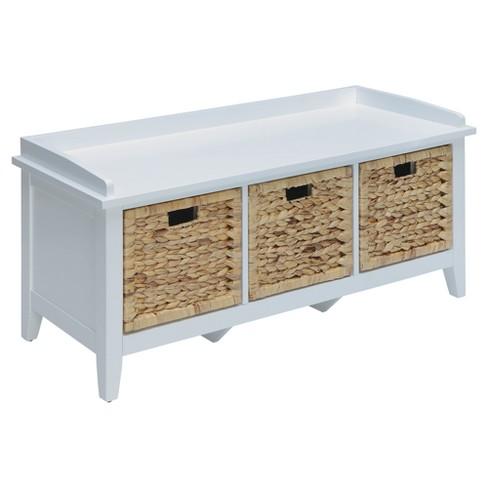 Storage Bench White - Acme Furniture - image 1 of 4