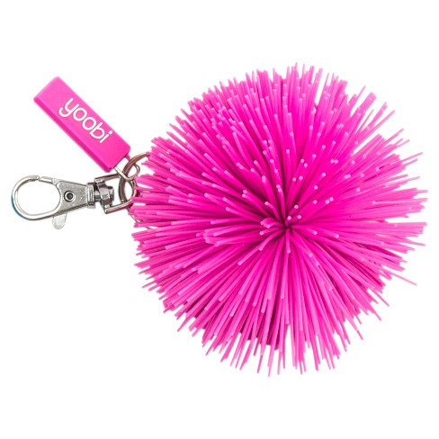 Yoobi Keychain/Pom Pom/Rubber Large Component - Pink - image 1 of 2