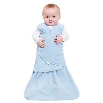 HALO Sleepsack Micro-Fleece Swaddle - Baby Blue - S, Size: Small