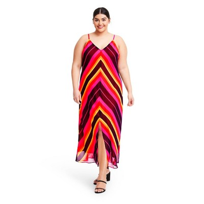 Chevron Sleeveless Slip Dress - Christopher John Rogers for Target Pink