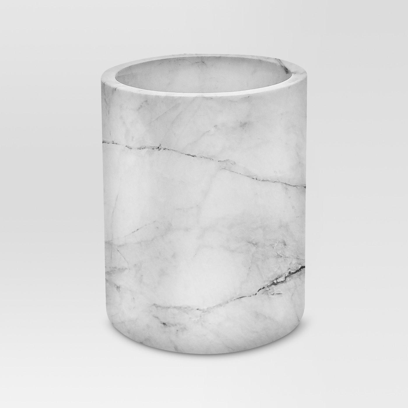Large Marble Utensil Holder - Threshold⢠- image 1 of 1