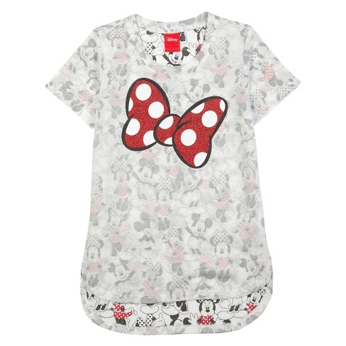 67bb5bce3 Girls' Minnie Mouse T-Shirt - White : Target