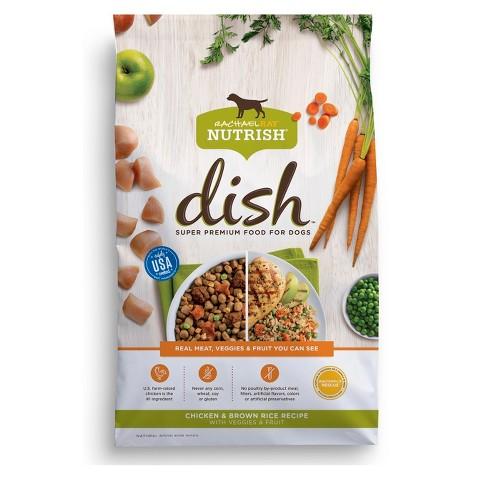 Rachael Ray Nutrish DISH Natural Dry Dog Food Chicken & Brown Rice Recipe With Veggies & Fruit ...