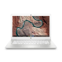 "HP 14"" Touch Chromebook 11.5 hour battery life 3.39lbs (14-CA137NR), Polished White Design"