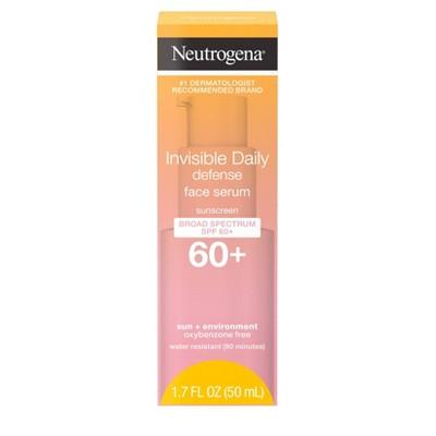 Neutrogena Invisible Daily Defense Sunscreen Face Serum - SPF 60 - 1.7 fl oz