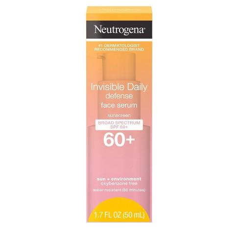 Neutrogena Invisible Daily Defense Sunscreen Face Serum - SPF 60 - 1.7 fl oz - image 1 of 4