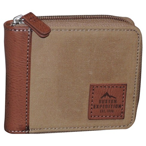 Buxton® Men's Expedition II Huntington RFID Zip Around Wallet - Tan - image 1 of 3
