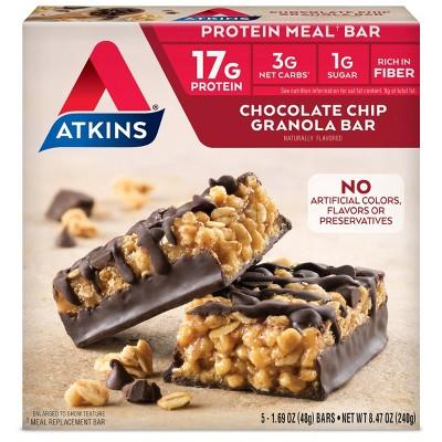 Atkins Granola Meal Bar - Chocolate Chip - 5ct