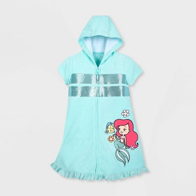 Girls' Disney The Little Mermaid Swim Cover Up - Blue - Disney Store