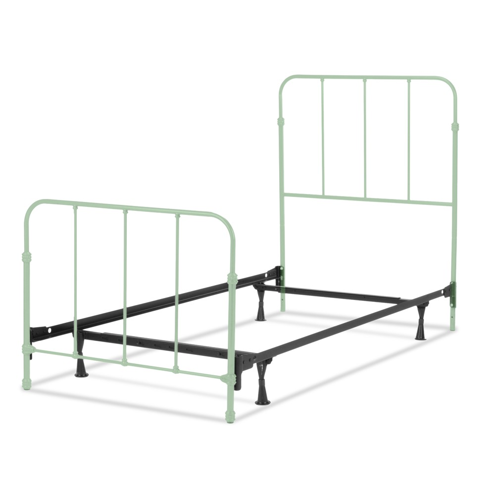 Nolan Complete Kids Bed with Metal Duo Panels - Mint Green - Full - Fashion Bed Group