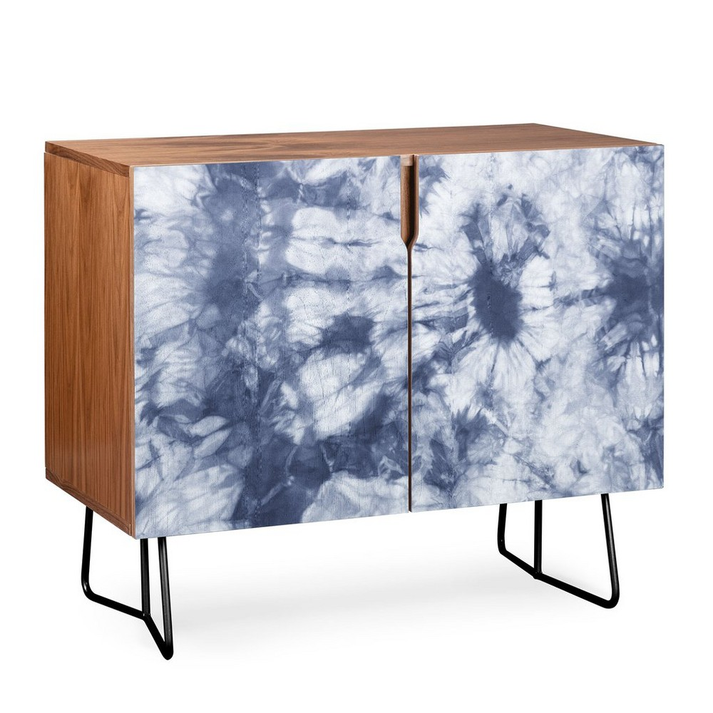 Amy Sia Tie Dye Credenza Black Legs Blue/Abstract - Deny Designs, Blue/Black Legs