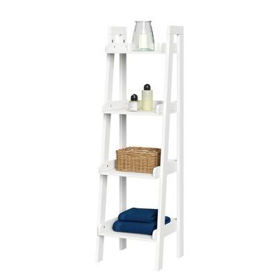 4 Tier Narrow Ladder Bathroom Shelf - RiverRidge Home
